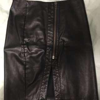 Sportsgirl leather skirt