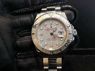PREOWNED ROLEX YATCHMASTER, 16622, ROLESIUM Platinum Steel, 40mm, D Series @ Year 2006 Mens Watch