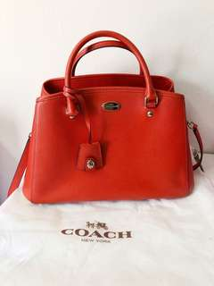 Coach Small Margot Carryall in Orange - Like New