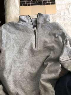 GILDAN grey quarter zip