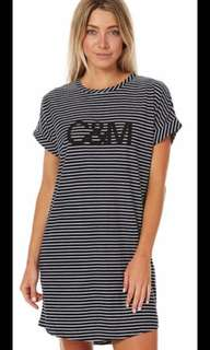 C&M t shirt dress size 10