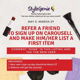 DAY 5: Refer a friend to sign up & post first item
