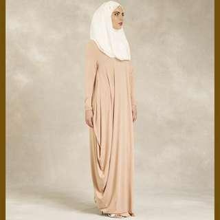 50% OFF INAYAH Warm Nude Cascade Abaya Dress Size XL / XXL