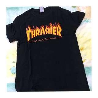 🚚 Thrasher 經典 黑色短踢