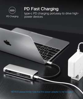 Macbook Pro Type C HUB All in One HDMI VGA Card Reader PD Adapter