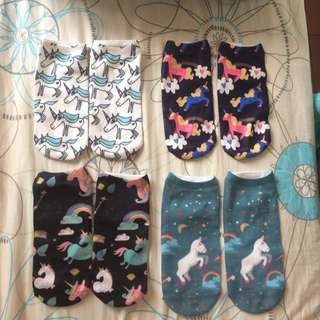 Unicorn Socks Assorted