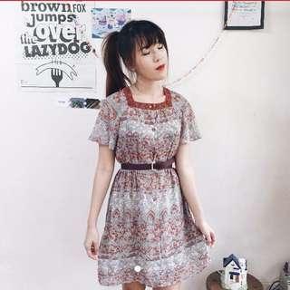 @vintagewknd vintage midi dress