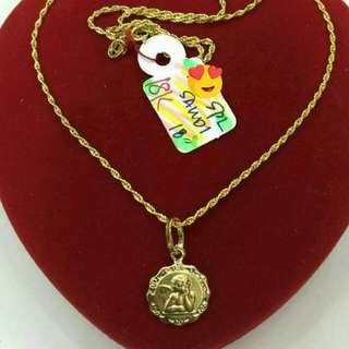 18k saudi gold necklace 18 inches