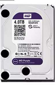 WD purple 4TB used HD with local warranty