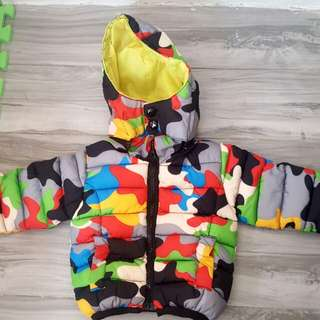 Colorful bubble jacket for babies