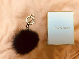 MICHAEL KORS fox fur keychain