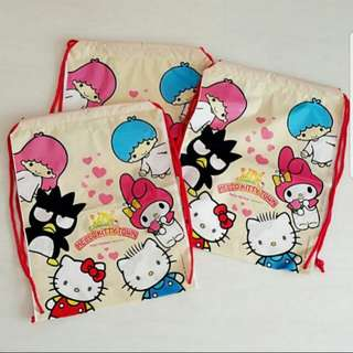 🔴$5.90➡️ $3.90 FOLLOWERS ONLY!🔴◆9+3+1◆👜AUTHENTIC BRAND NEW -- SANRIO ORIGINAL👜Hello Kitty & Friends Drawstring/ Plastic Recycling Bag! (Clean - tke pic only)(Gift wrapper/collection/oen use)💋No Pet No Smoker CLEAN hse💋