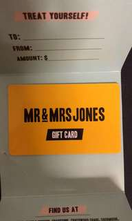 Mr and Mrs Jones Gift Card