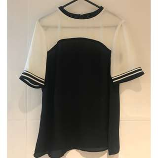 Dorothy Perkins Black and White Blouse