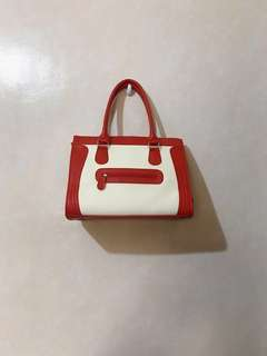 Red Celine Inspired Micro Luggage Bag