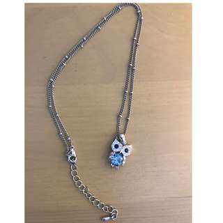 Bejewelled Owl Necklace