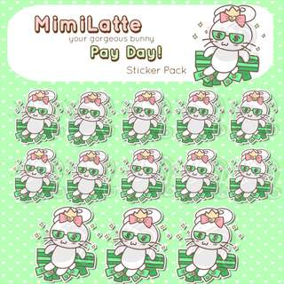 Pay Day Stickers - Planner Stickers - Kawaii Stickers