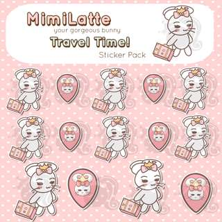 Travel Time Stickers - Planner Stickers - Kawaii Stickers