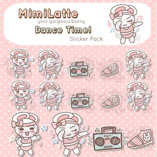 Dance Time Stickers - Planner Stickers - Kawaii Stickers