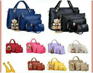 5in1 Bear Handbag Set + Free Gift