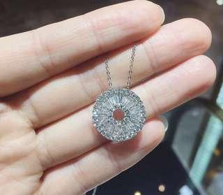 平安鑽石扣 羅盤鑽石吊墜 項鍊