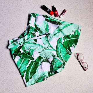 Brand New High-Waisted Printed Shorts