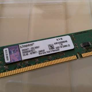 Kingston DDR3 4GB RAM 2條