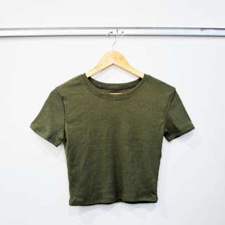 Brand New Olive Green Ribbed Top
