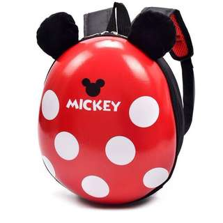 Cuties Minnie Pokodot Red Shell Backpack For Toddler