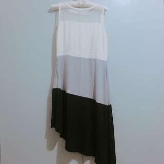 Tri-color Minimalist Dress