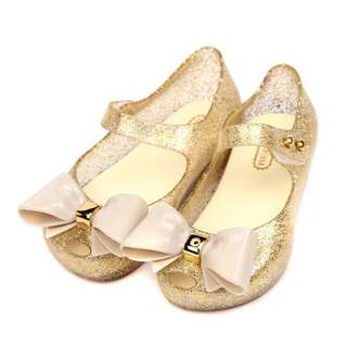 Big Ribbon Lovely Girl Jelly Shoes For Kids