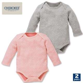 CHEROKEE  一包2件裝100%綿過頭穿夾衣。 一件灰色印花,一件粉紅色印花。 適合秋冬春季節 90cm