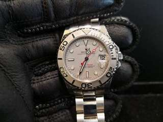 PREOWNED ROLEX YATCHMASTER, 168622, ROLESIUM Platinum Steel, 35mm, D Series @ Year 2006 Ladies Watch