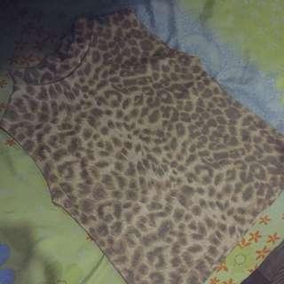 Leopard Semi Croptop