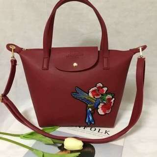 Longchamp Neo Small tote bag RED