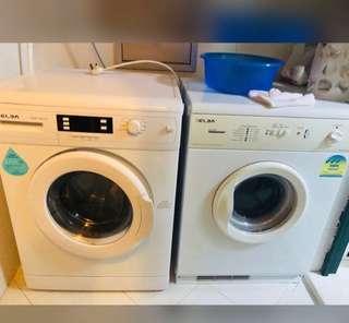 Washing machine and ryer