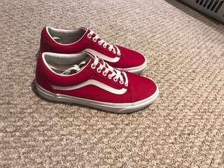 Red vans size 9