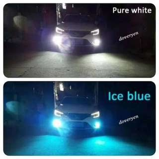 Dual Color Led Fog Light  H1 H3 H8 H9 H11 HB3 HB4 9005 9006   ★White & Ice Blue All In One Bulb  ★White 6.5k ★Off & On Fog Light Switch      Change To Ice Blue 8k  ★New Design  ★Plug & Play  ★2600 Lm Per Bulb ★New 30/30 Led Chip ★Ultra Bright   In Stock