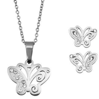 Silverworks Necklace and earring set