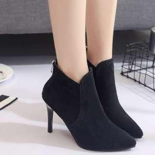 77982 Elegant Plain Women High Heels Boots