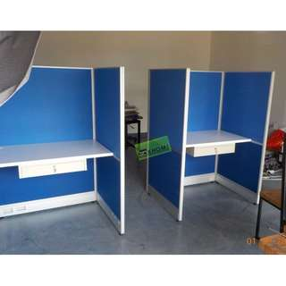 2 SETS OF 1 SEATER OFFICE CUBICLE 100X60cm--KHOMI