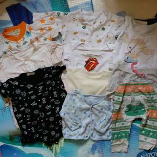 bb 幼兒 嬰兒 秋 夏季 衫 褲 男孩 男嬰 男仔 合10件 6 mos up baby boy clothes pants 10 pcs