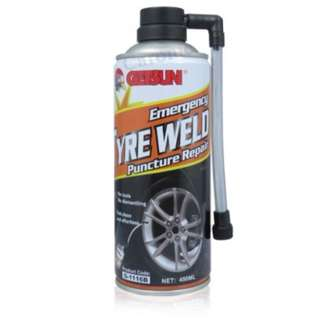 Getsun Emergency TyreWeld Puncture Repair GET 2 BOTTLE BY SINGLE PRICE