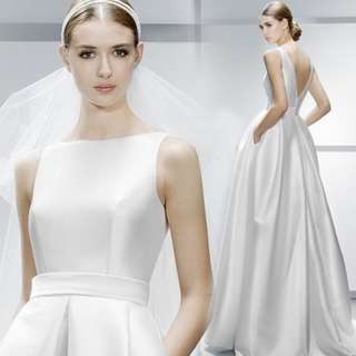 Wedding Collection - Simply Plain Design Wedding Gown