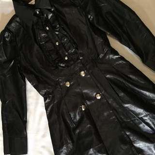 Glossy black dress