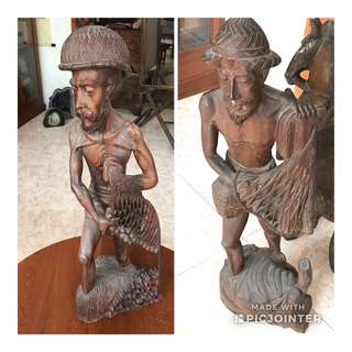 渔夫木雕刻品 (2 件)