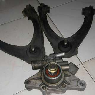 upper arm & pump power stering honda ek