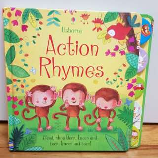 Usborne action rhymes board book