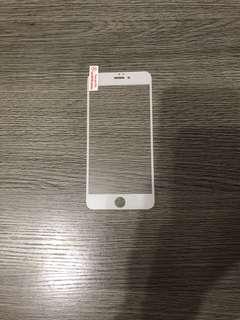 iphone 6plus 白色全包玻璃窗mon貼