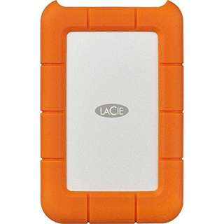 LaCie Rugged USB-C 4TB External Hard Drive USB 3.0 (STFR4000800) With Ivation Compact Portable Hard Drive Case (Small)